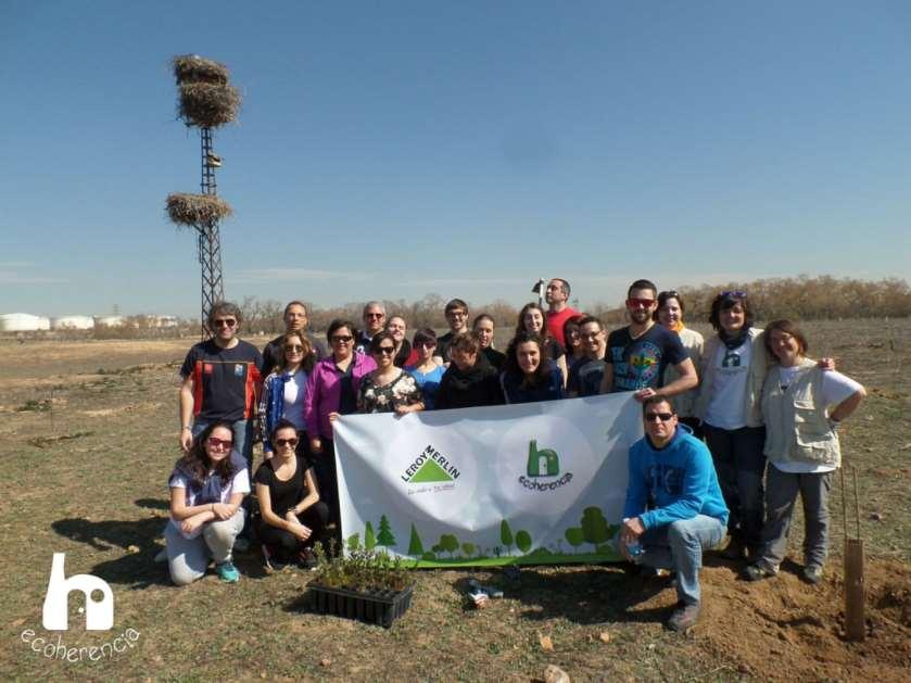 Reforestación en el Caserío del Henares con Leroy Merlin