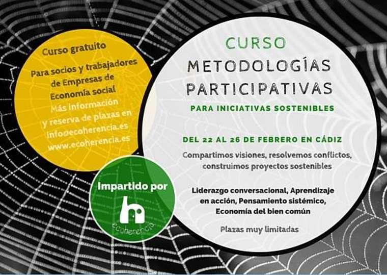 Curso subvencionado Metodologías Participativas para iniciativas sostenibles