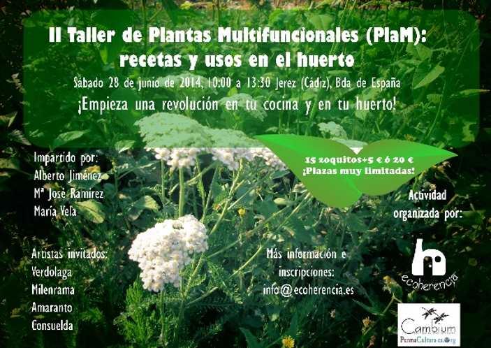28 junio: II Taller de PlaM – recetas y usos en el huerto