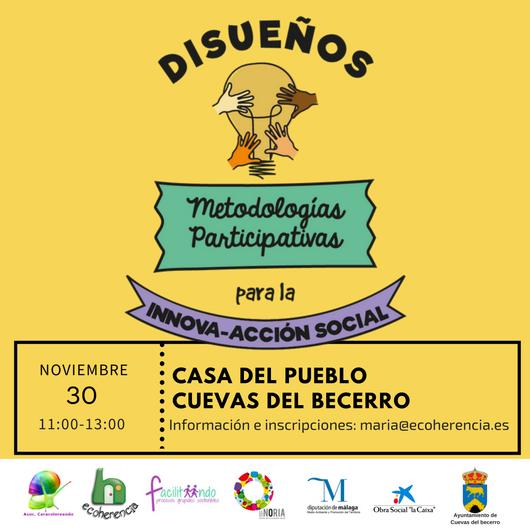 El 30 de noviembre disueña en Cuevas del becerro (Málaga), herramientas para proyectos grupales sostenibles