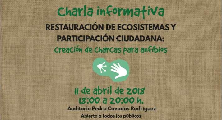 Charla informativa de creación de charcas para anfibios en Castellar de Santiago