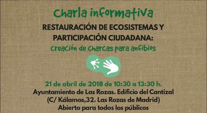 Charla informativa de creación de charcas para anfibios en Las Rozas de Madrid