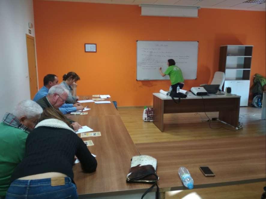 Dinámica realizada durante la charla del proyecto Charcas para anfibios en Castellar de Santiago