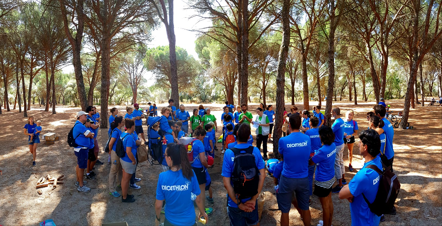 Jornada de Voluntariado Ambiental de Decathlon 2018