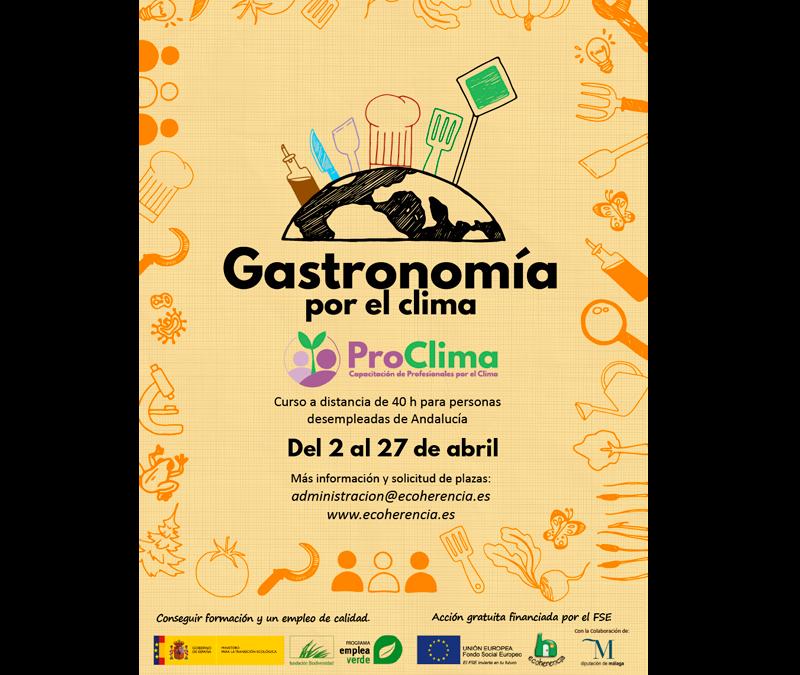 Curso de Gastronomía por el clima