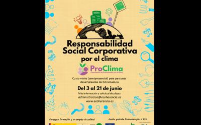 Abrimos inscipciones para los cursos de Responsabilidad Social Corporativa por el clima