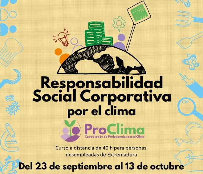 ProClima: RSC por el clima. Curso semipresencial en Extremadura