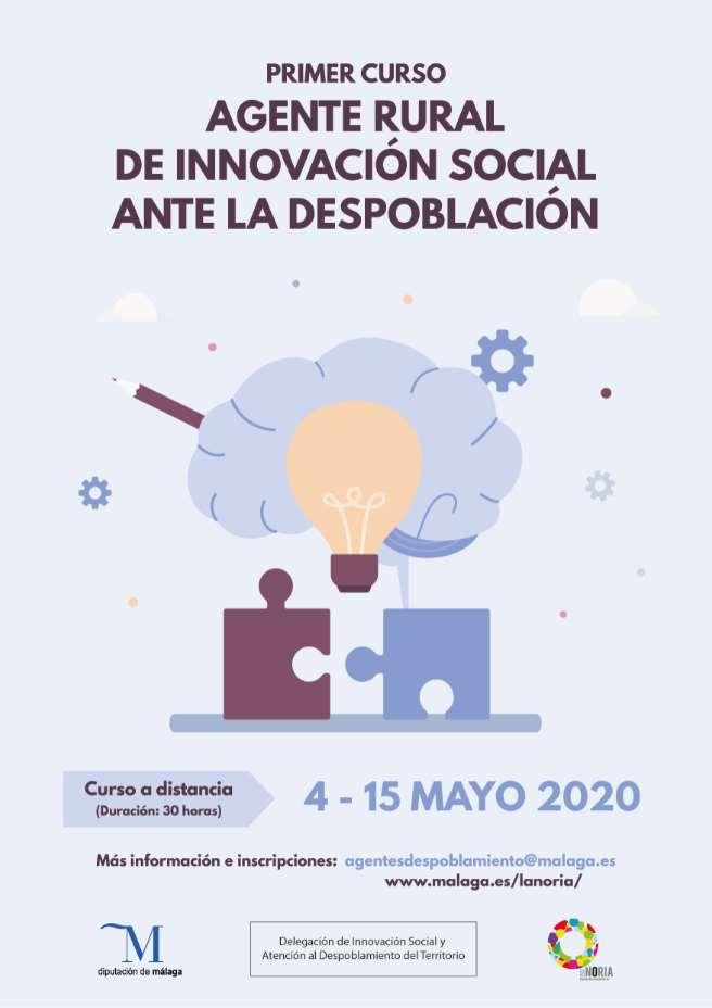 Comenzamos la primera edición del curso Agente Rural de Innovación Social ante el Despoblamiento con la Diputación de Málaga